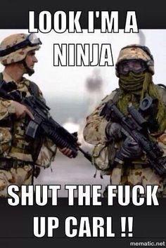 shut up carl Army Jokes, Military Jokes, Stupid Funny, Funny Jokes, Hilarious, Funny Stuff, Sarcastic Humor, Sarcasm, Carl Meme