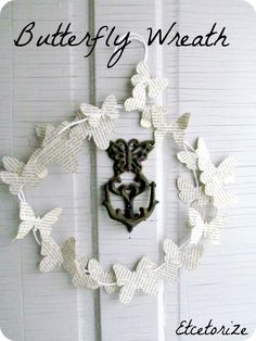cute wreath but I think I would wrap yarn or ribbon around the wire hanger form first.