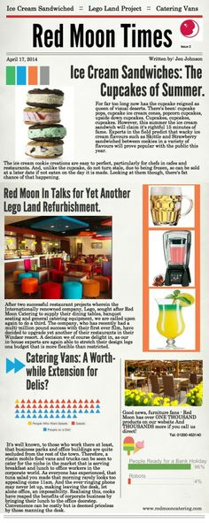 The Happening and goings on in Red Moon Catering for Restaurants, Bars, Cafes, Delis, Pubs and Bistros.