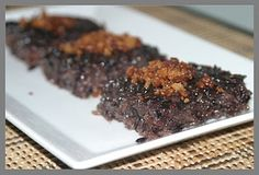 another variation  of biko (sticky rice pudding ~ black rice pudding )