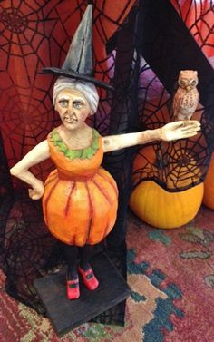Bella DeBall Witch  by Anthony Costanza   Original Wood Carving