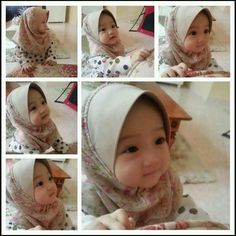 and baby hijab Toddler in hijab Kleinkind im Hijab Baby Hijab, Girl Hijab, Cute Baby Girl, Cute Babies, Babies Stuff, Dream Kids, Baby Turban, Beautiful Babies, Baby Hats