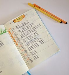 Diet and Weight Loss Plan with the help of my Bullet Journal