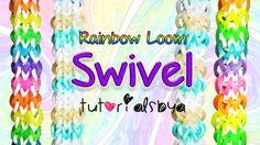 NEW REVERSIBLE Swivel Rainbow Loom Bracelet Tutorial   How To