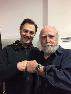 Photo of Scott Wilson  & his friend David Morrissey