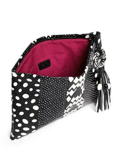 RAFÉ - Celia contrast prints snakeskin clutch | Black Day Clutches | Womenswear | Lane Crawford