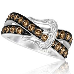 Le Vian 14K Vanilla Gold 1.20 Carat Chocolate and Vanilla Diamond Ring