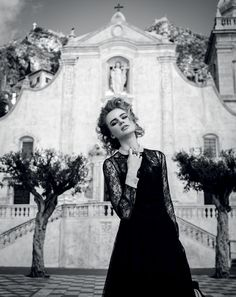 Milou Sluis Poses in Sicily for Marie Claire Netherlands by Dennison Bertram