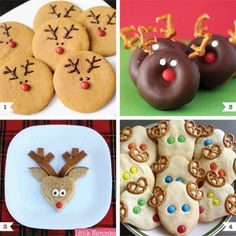 Reindeer treats, Reindeer Donuts for 2014 Christmas, Cute Mini reindeer donuts for 2014 - Fantastic ! 2014 Christmas reindeer dessert recipes that kids will love ! by Love_Christmas Christmas Snacks, Christmas Cooking, Noel Christmas, Christmas Goodies, Holiday Treats, Holiday Fun, Holiday Recipes, Christmas Ideas, Holiday Foods