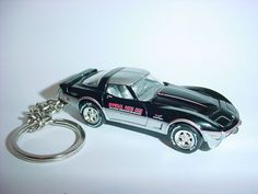 Keychains Key Chains Cheap Sale New 3d Black 1978 Chevrolet Corvette Custom Keychain Keyring Key Vette Bling!!!