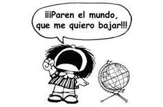 Mafalda pede pra sair