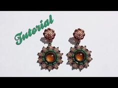 """[Beadwork] DIY Tutorial """"Daisy earrings"""" - Come fare orecchini con rulla e biconi swarovski - YouTube"""