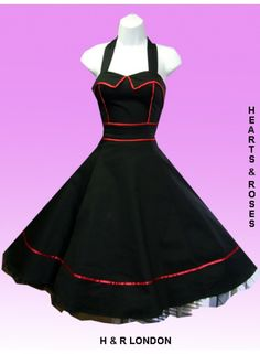 Black with Red Piping | DRESS