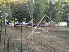 Getting the Bamboo Park ready for the Kentuck Festival 2012.