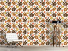 Design #Tapete Eichhörnchen Treffen
