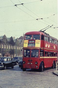 c1960 - London Trolleybus 1089 on route 659 at Manor House…