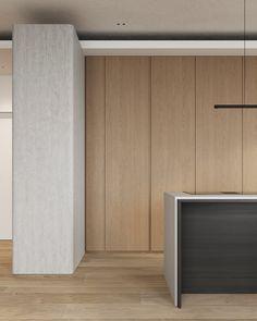 kitchen Contemporary Design, Modern Design, House Rooms, Kitchen Interior, Home Kitchens, Furniture Design, House Design, Flooring, Interior Design