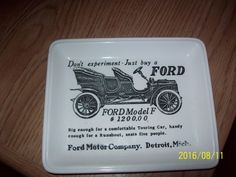 Ford Model F Porcelain Henry Ford Museum Tray