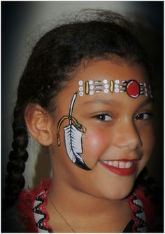 Grimeren face painting Sylvia indian girl indiaan indianen meisje