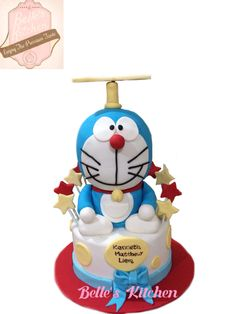 Doraemon Cake By Belle's Kitchen, To Order Contact Our WA: 081294055786, Line: Bellekitchen Also Be Sure To Follow Our Instagram @belle_kitchen