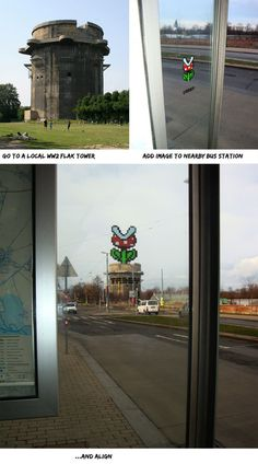 Art on the street that aligns with its surroundings