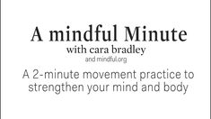 2-Minute Mindful Movement Practice - YouTube Becoming A Teacher, Health And Wellbeing, Getting Old, Living Yoga, How To Become, Mindfulness, Coaching, Wellness, Youtube