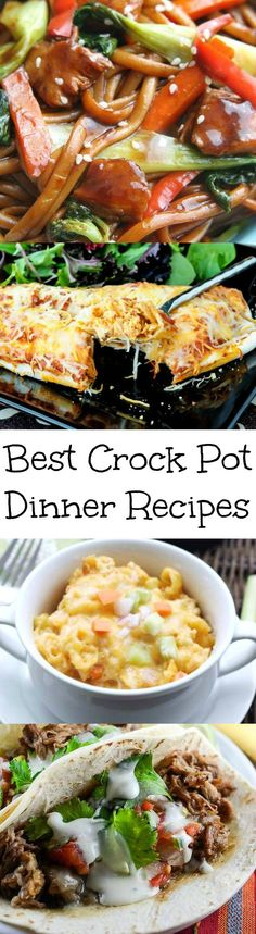 Easy and Delicious Crock Pot Dinner Recipes!