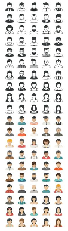 People Icons by ratch on Creative Market
