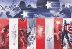 Captain America origin painted by Alex Ross. A brilliant layout! Written by Paul Dini. Lettered by Todd Klein. Captain America Comic, Capitan America Marvel, Capt America, Alex Ross, Comic Book Artists, Comic Books Art, Comic Art, Marvel Comics Superheroes, Avengers