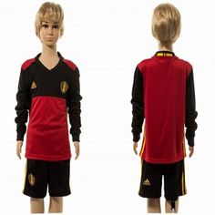 #Belgien Trøje Børn 2016 Hjemmebanetrøje Lange ærmer.222,01KR.shirtshopservice@gmail.com