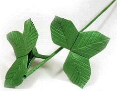 origami rose stem