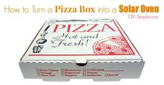 How to Turn a Pizza Box into a Solar Oven #DIY #frugal #green - www.DIY-Simple.com