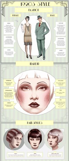 Vintage Makeup A curated post showing halloween costume infographics. - Wracking your brain for Halloween costume ideas? Maybe one of these Halloween infographics will inspire you. Vintage Outfits, Retro Outfits, Vintage Fashion, Trendy Fashion, 1920s Fashion Gatsby, 1920s Makeup Gatsby, Womens Fashion, Roaring 20s Fashion, Flapper Makeup