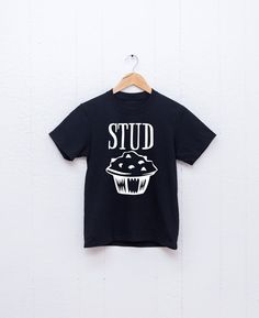 This Valentines Day t-shirt says Stud Muffin with a cute and fun play on words design. This is made to order and is perfect for your little