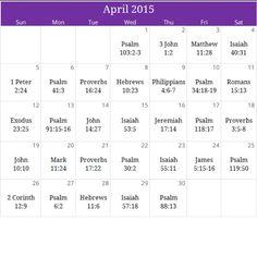 "April 2015 ""Healing"" prayer calendar. Request a free monthly devotional and downloadable version at calendar@iprayallday.com"