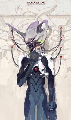 Kai Fine Art is an art website, shows painting and illustration works all over the world. Art Manga, Art Anime, Anime Nerd, Anime Manga, Neon Genesis Evangelion, Evangelion Shinji, Character Art, Character Design, Animes Wallpapers