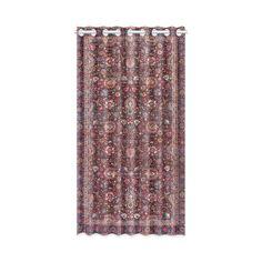 Vintage Floral Persian Rug Pattern Window Curtain 50