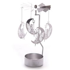 Moon Fairy Design Metal Tealight Spinner Add magic and light to your home with these lovely tealight spinners. The design is simple, you assemble y Moon Fairy, Candle Holder Decor, Fairy Figurines, Home Candles, Tea Light Holder, Decoration, Tea Lights, Metal, Gifts