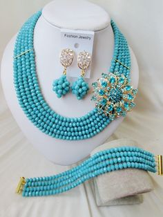find more jewelry sets information about fashion nigeria wedding african beads jewelry set opaque teal blue