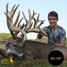 Over 300 inches of monster buck taken at Oak Creek Whitetail Ranch. This young hunter's dream came true. #bigbuck #whitetaildeer *this is the place we have been to four times for family hunting trips - where I've shot my four big bucks!