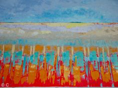 View from the train - Patricia Colyer, Suffolk Artist, I can't help my love of abstract landscapes.