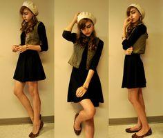 Forever 21 Skater Dress, Leopard Flats