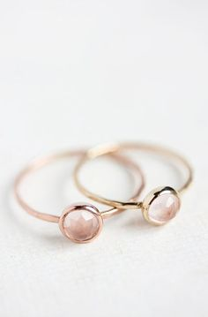 Lovely Clusters - Beautiful Shops: Rose quartz and 14k rose gold ring