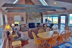 Recline or dine in the magnificent great room or deck outside. Dennis, Cape Cod vacation rental on WeNeedaVacation.com ID 7745