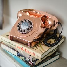 Buy Wild and Wolf 746 Phone - Copper from our Retro Telephones range at Red Candy, home of quirky decor. My New Room, My Room, Telephone Retro, Retro Phone, Gold Everything, Rose Gold Decor, Gold Room Decor, Deco Retro, Copper Rose