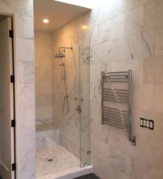 carrera marble in bathrooms Carrara Marble Bathroom, Marble Mosaic, Arabesque Tile, Marble Showers, Shower Cleaner, Bathroom Interior Design, Design Projects, Clean Shower, Blog