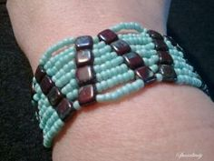 tila and aqua bead bracelet | specialtivity - Jewelry on ArtFire