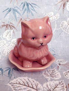 Pink Kitty Cat Planter