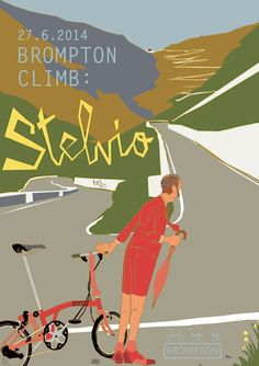 bicycleart: Brompton Climb Stelvio