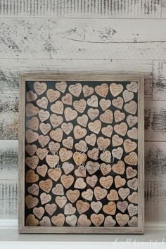 DIY Wooden Heart Guestbook